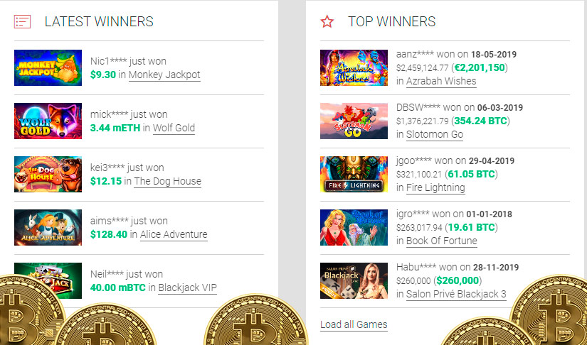 Bitcoin slot shack sister sites
